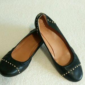 J. Crew Women's Ballet Flats Black & Gold Size 9
